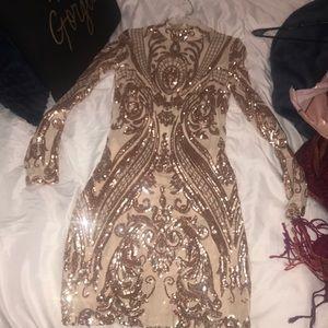 Sparkle midi formal dress